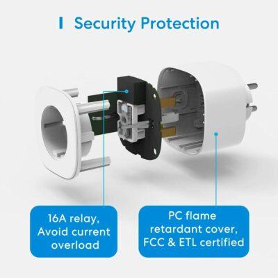 seguridad en enchufe inteligente con monitor de consumo